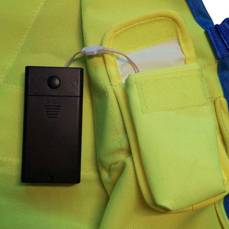 Warnweste Batterie-Box gelb